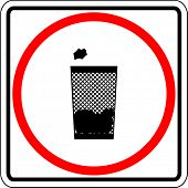 trash container sign
