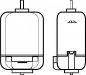 motor eléctrico delantero y lateral ven arte de línea