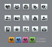 Internet & Blog // Satinbox Series -------It includes 5 color versions for each icon in different la