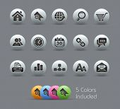 Web Site & Internet // Pearly Series -------It includes 5 color versions for each icon in different
