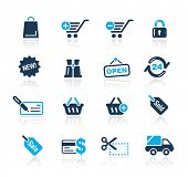 Shopping Web Icons / / himmelblau Serie