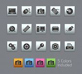 Computer & Devices // Satinbox Series -------It includes 5 color versions for each icon in different