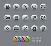 Interface // Pearly Series -------It includes 5 color versions for each icon in different layers ---