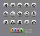 Web Navigation // Pearly Series -------It includes 5 color versions for each icon in different layer