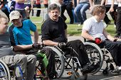 VITEBSK, BELARUS - MAY 15: Start of sportsmen-invalids on a sports holiday