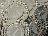 Fondo de la medalla de oro