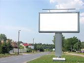 Large blank billboard by the street