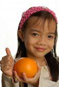 Orange, rich in Vitamin C