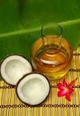 Coconut, coconut oil and plumeria