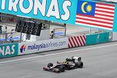 SEPANG, MALAYSIA - APRIL 4 : Hispania Racing F1 driver Bruno Senna of Brazil drives during Petronas