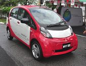 KUALA LUMPUR - NOVEMBER 12 : A Mitsubishi Innovation Electric Vehicle (MIEV) on display at Car of Th