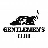 Cigar Men Club Logo. Simple Illustration Of Cigar Men Club Vector Logo For Web Design Isolated On Wh poster