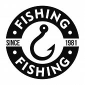 Fishing Hook Club Logo. Simple Illustration Of Fishing Hook Club Vector Logo For Web Design Isolated poster
