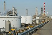 The industrial scale of an oil refinery and its systems