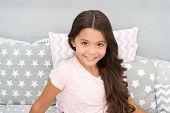Childrens Tips And Techniques For Healthy Hair. Girl Cute Baby With Long Curly Hair Wear Pajamas. Ha poster