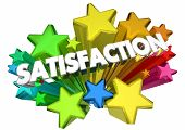 Satisfaction Stars Satisfied Customer Word 3d Animation poster