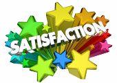 Satisfaction Stars Satisfied Customer Word 3d Animation poster