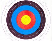 Standard bunte Bullauge Ziel für Bogenschießen
