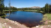panorama of small lake in Utah above Park city, Utah, USA