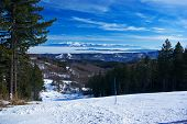 Panorama From Ski Slope To Rila Mountain