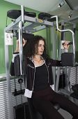 Woman practice in Gym