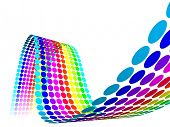 3D Color Dots Waves