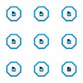 Document Icons Colored Set With File Rtf, Text, File Mp3 And Other Archive Elements. Isolated  Illus poster