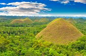 foto of chocolate hills  - Chocolate hills panorama - JPG