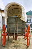 stock photo of covered wagon  - An antique horse - JPG
