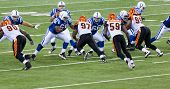 INDIANAPOLIS, IN - SEPT 2: The play begins during football game between Indianapolis Colts and Cinci