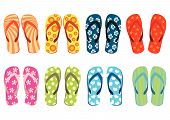 foto of summer beach  - Beach sandals - JPG