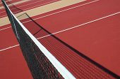 newly painted tennis courts