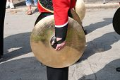 Cymbal player in the band