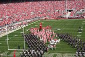 Ohio State football players take the field at home