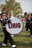 Drummer in the Ohio State University marching band
