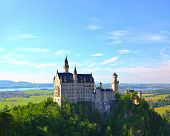 HDR image of the famous Neuschwanstein Castle in the Alps in Germany
