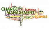 image of change management  - Change management concept in word cloud on white - JPG