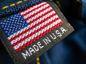 Made in USA label textile poster