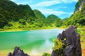 Lago Thang Hen. Província Cao Bang. Vietname