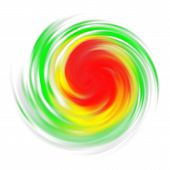 Hurricane Symbol With Intensity Indication, Tornado, Typhoon, Twister Isolated On White. Top View. D poster