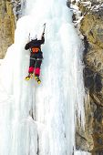 Climbing A Frozen Waterfall