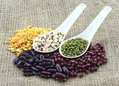 Legumes Raw Material Isolated Canvas At Background