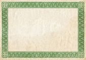 Old Certificate Border