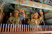 image of seoraksan  - Guardian Demons at the Gates of   Buddhist Sinheungsa Temple in Seoraksan National Park - JPG