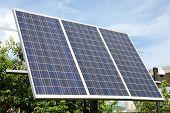 Solar panel - three 165 W Photovoltaic panels