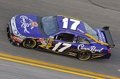 DAYTONA BEACH, FL - FEB 4:Matt Kenseth brings out his Crown Royal Ford for a practice session for th