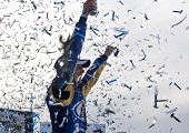 HAMPTON, GA - MAR 7: Kurt Busch in The Miller Lite Penske Dodge wins the running of the Kobalt Tools