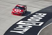 BRISTOL, TN - MAR 19: Juan Pablo Montoya brings his Chevrolet through the turns during a practice se
