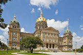 The Iowa State Capitol is the state capitol building of the U.S. state of Iowa. Housing the Iowa Gen