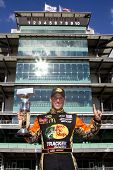 INDIANAPOLIS, IN - JULY 25:  Jamie McMurray wins the Brickyard 400 race at the Indianapolis Motor Sp